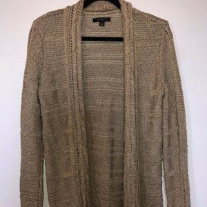 Ann Taylor Chunky Knit Cardigan Sweater Open Front